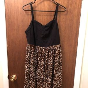 Leopard Print High/ Low Dress